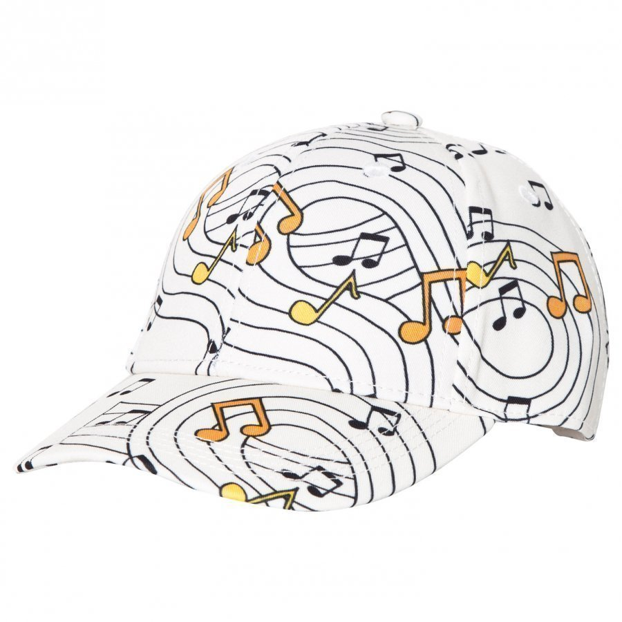 Mini Rodini Music Cap Off White Lippis
