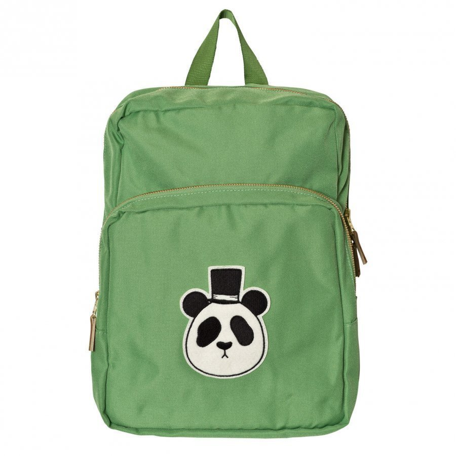 Mini Rodini Panda Backpack Green Reppu
