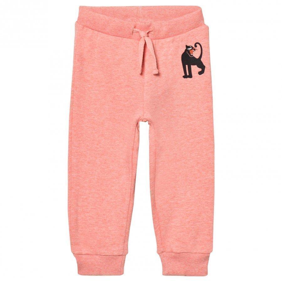 Mini Rodini Panther Sweatpant Pink Melange Oloasun Paita