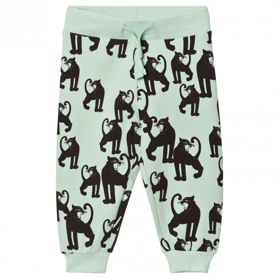 Mini Rodini Panther Sweatpants Light Green Verryttelyhousut