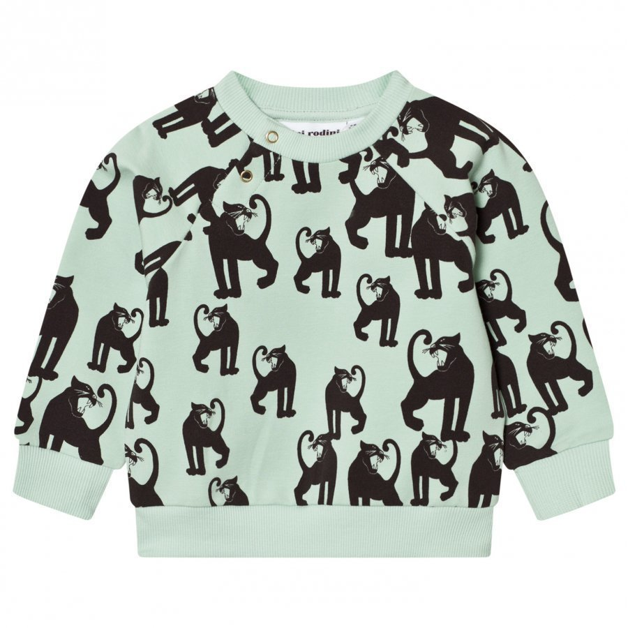 Mini Rodini Panther Sweatshirt Light Green Oloasun Paita
