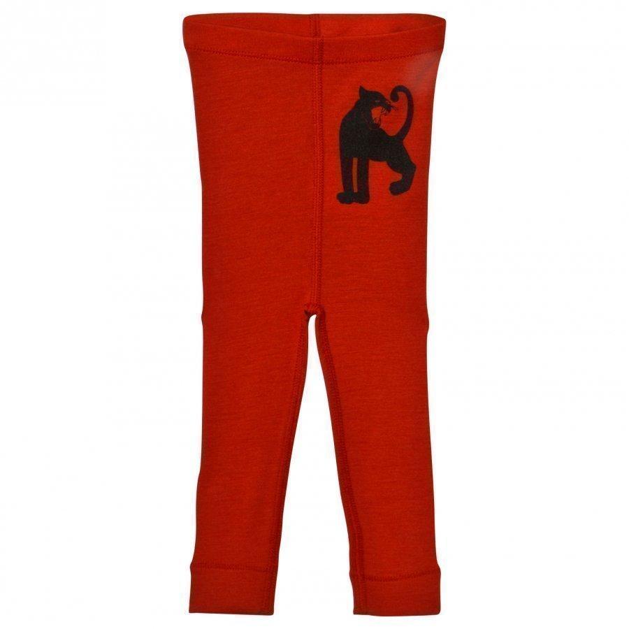 Mini Rodini Panther Wool Leggings Red Legginsit