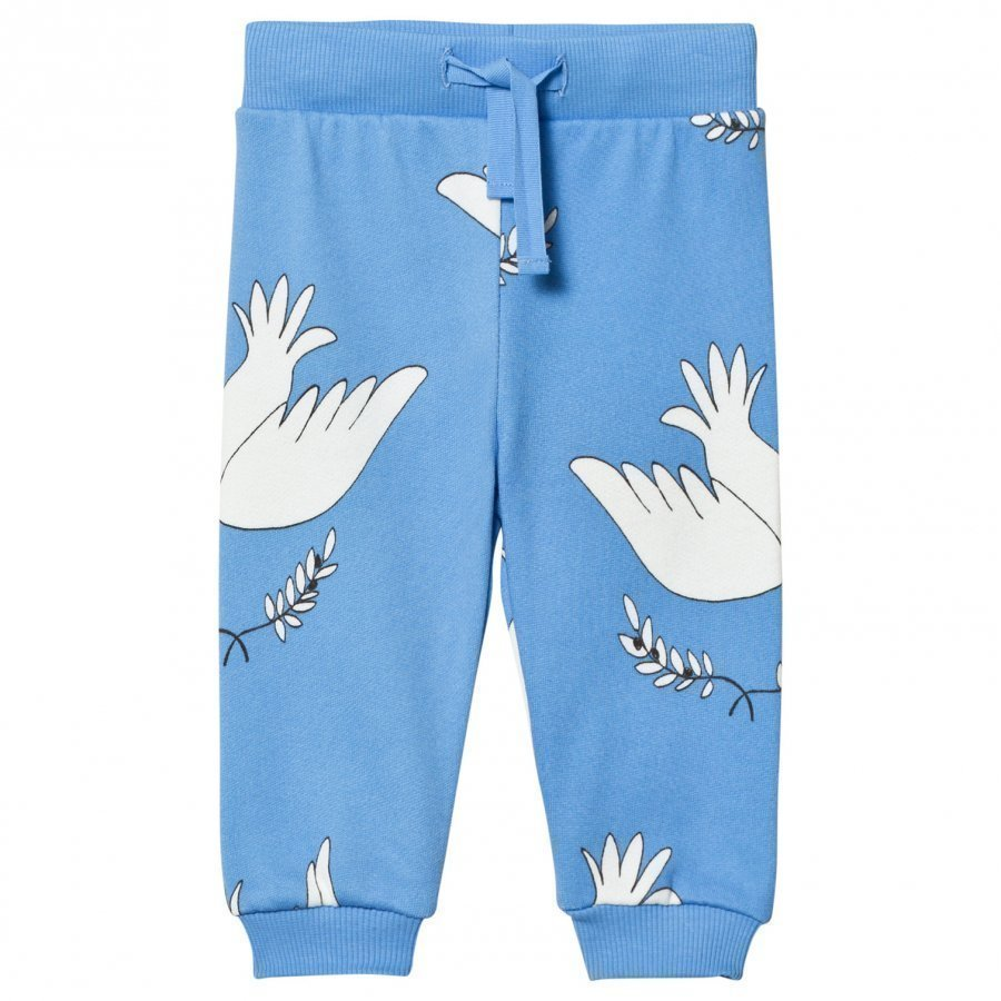 Mini Rodini Peace Sweatpants Blue Verryttelyhousut