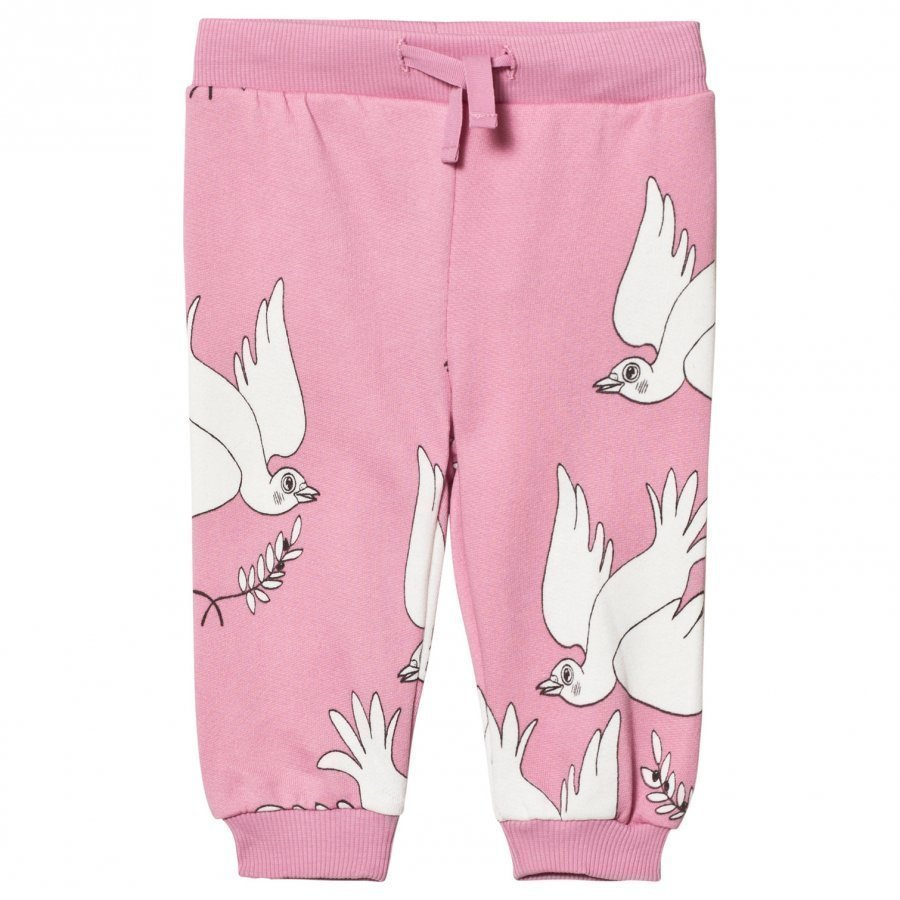 Mini Rodini Peace Sweatpants Pink Verryttelyhousut