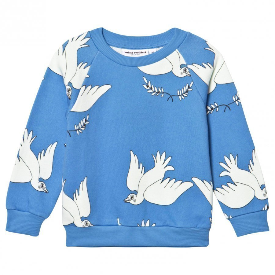 Mini Rodini Peace Sweatshirt Blue Oloasun Paita