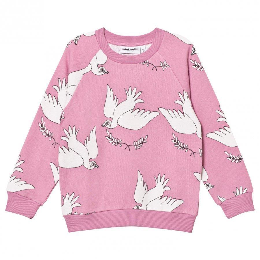 Mini Rodini Peace Sweatshirt Pink Oloasun Paita