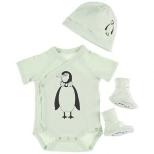 Mini Rodini Penguin Baby Kit: Body Pipo Ja Tossut