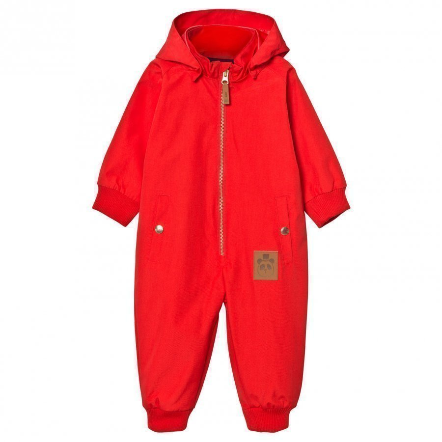 Mini Rodini Pico Coverall Red Sadehaalari