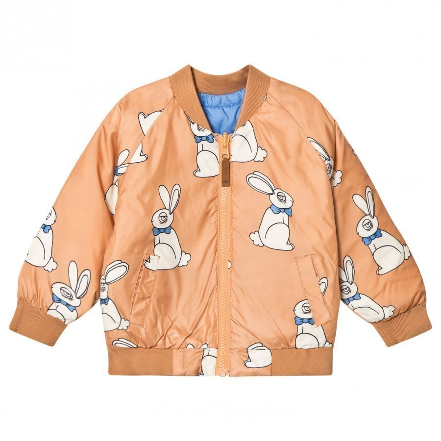 Mini Rodini Rabbit Insulator Jacket Beige Bomber Takki