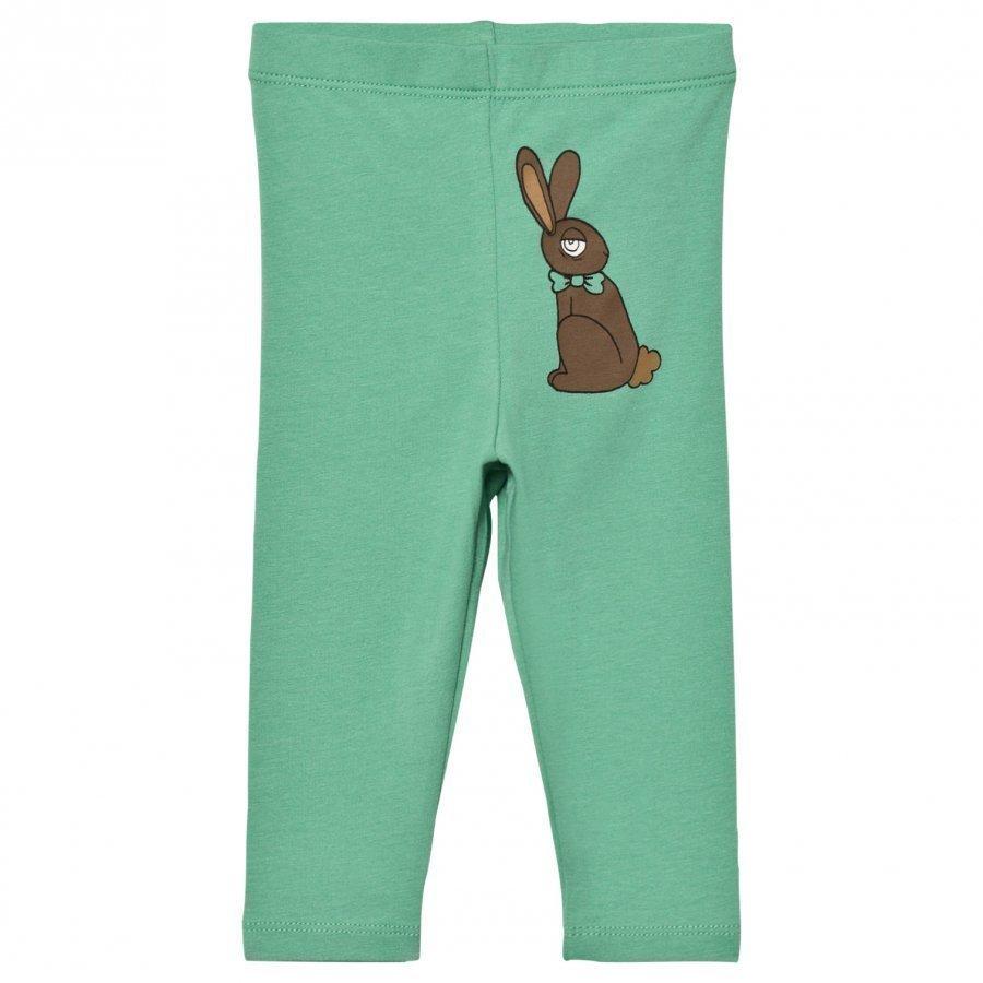 Mini Rodini Rabbit Leggings Green Legginsit