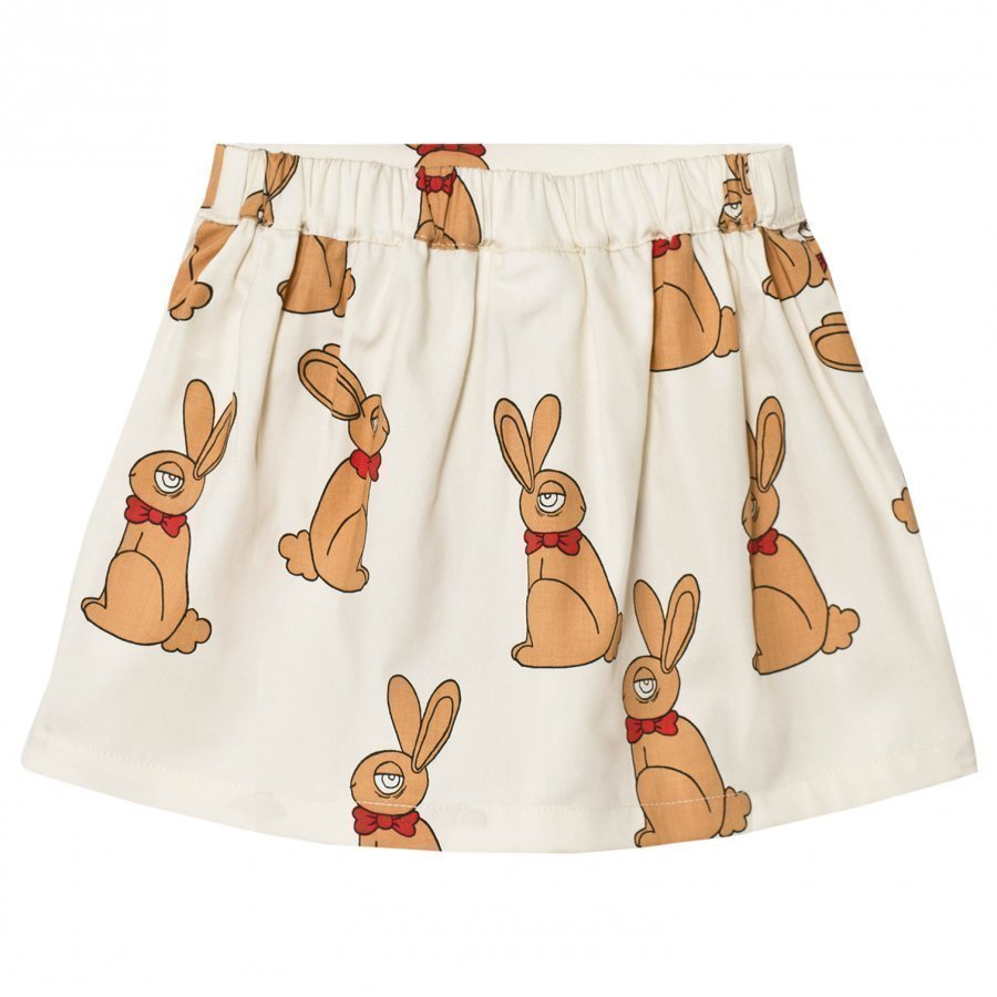 Mini Rodini Rabbit Skirt Off White Midihame