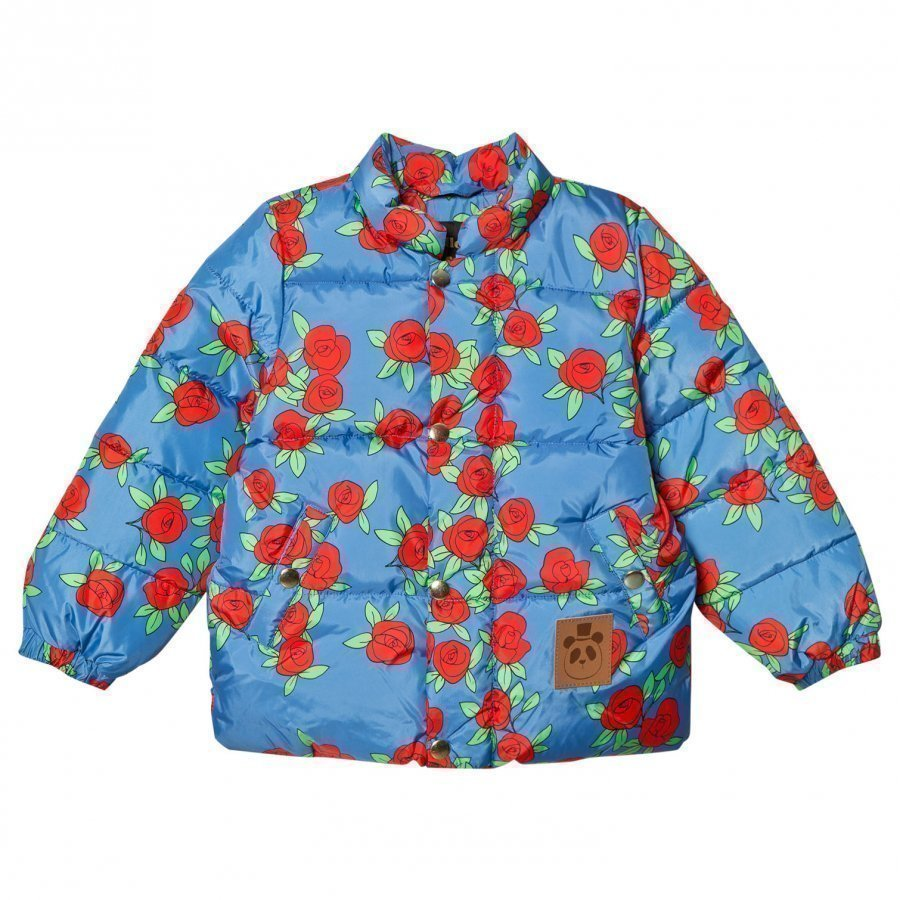 Mini Rodini Rose Puffer Jacket Blue Toppatakki