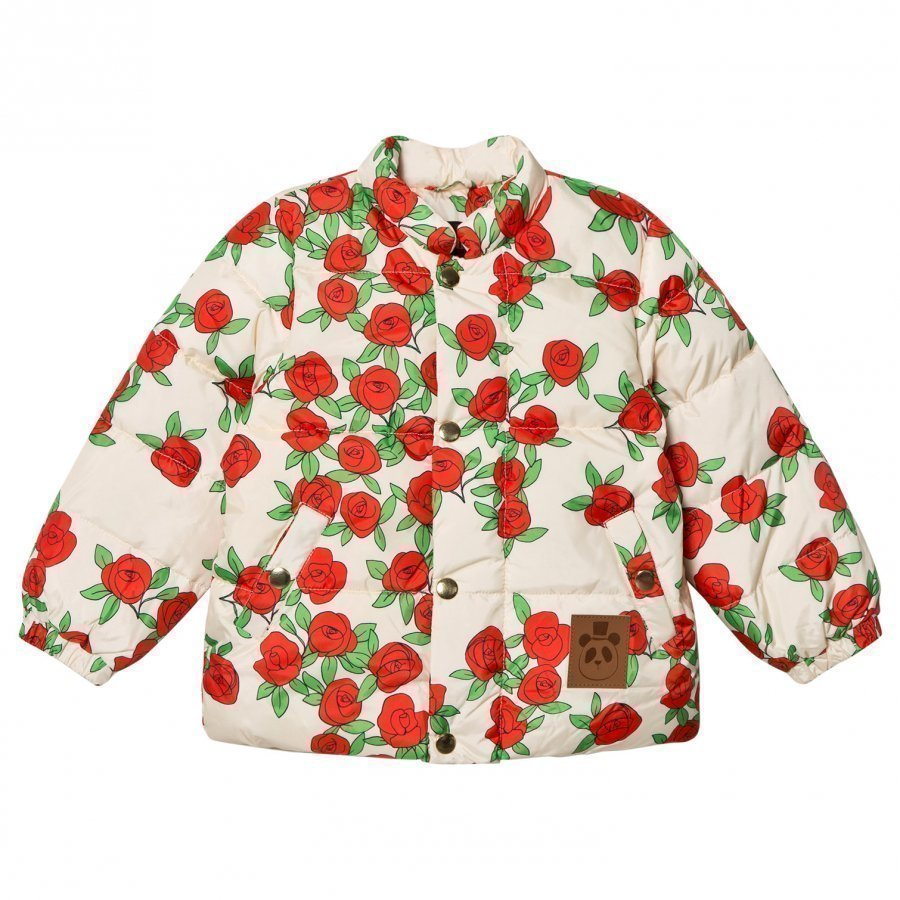 Mini Rodini Rose Puffer Jacket Off-White Toppatakki