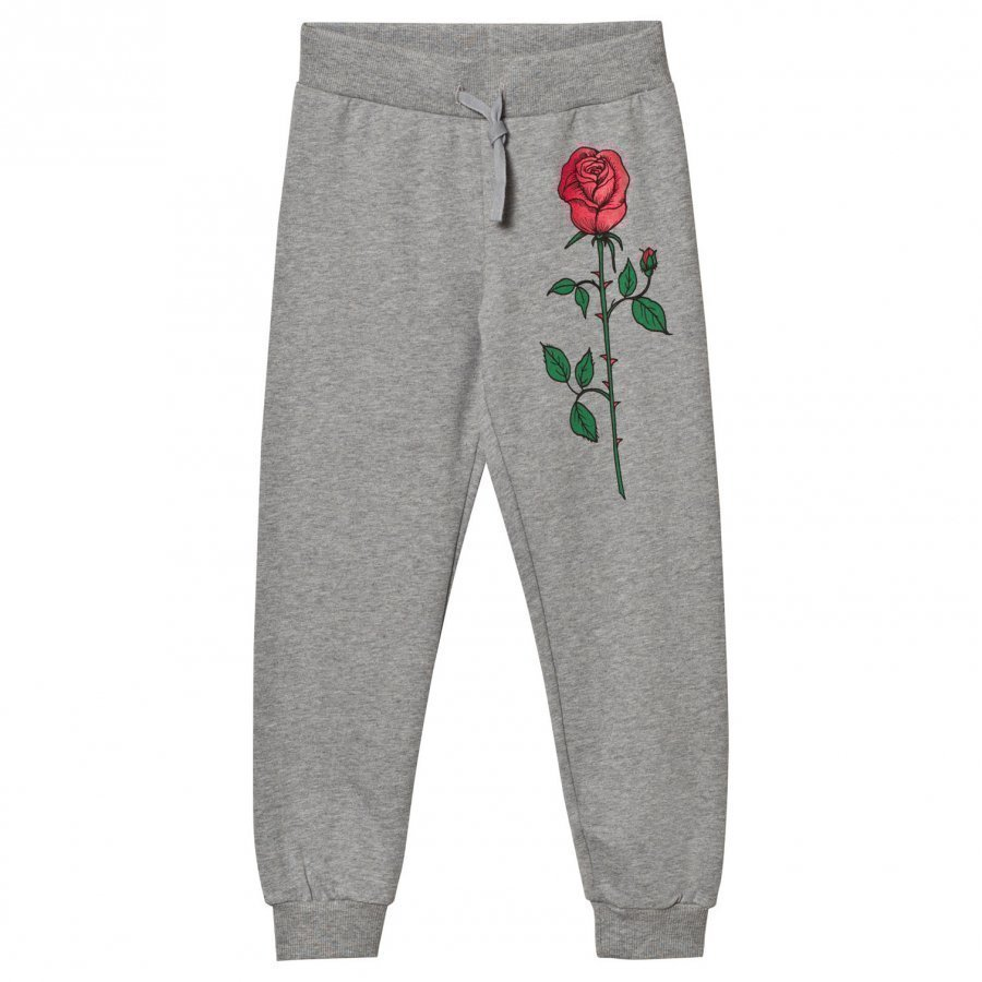 Mini Rodini Rose Sweatpants Grey Melange Verryttelyhousut