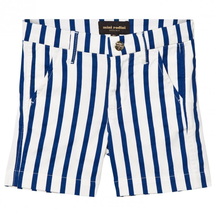 Mini Rodini Stripe Chino Shorts Blue Chinos Housut