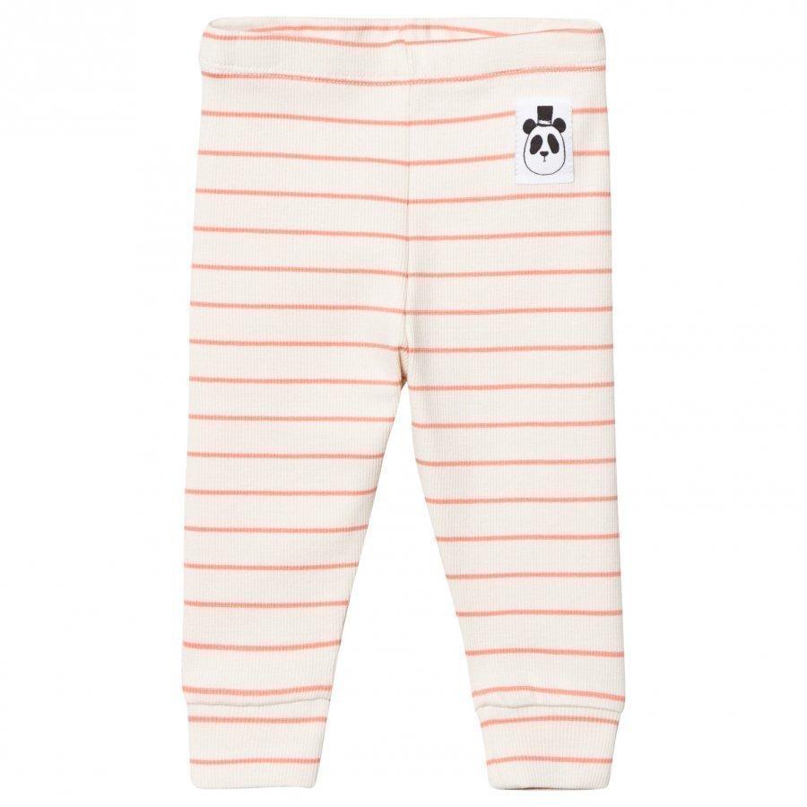 Mini Rodini Stripe Rib Leggings Pink Legginsit