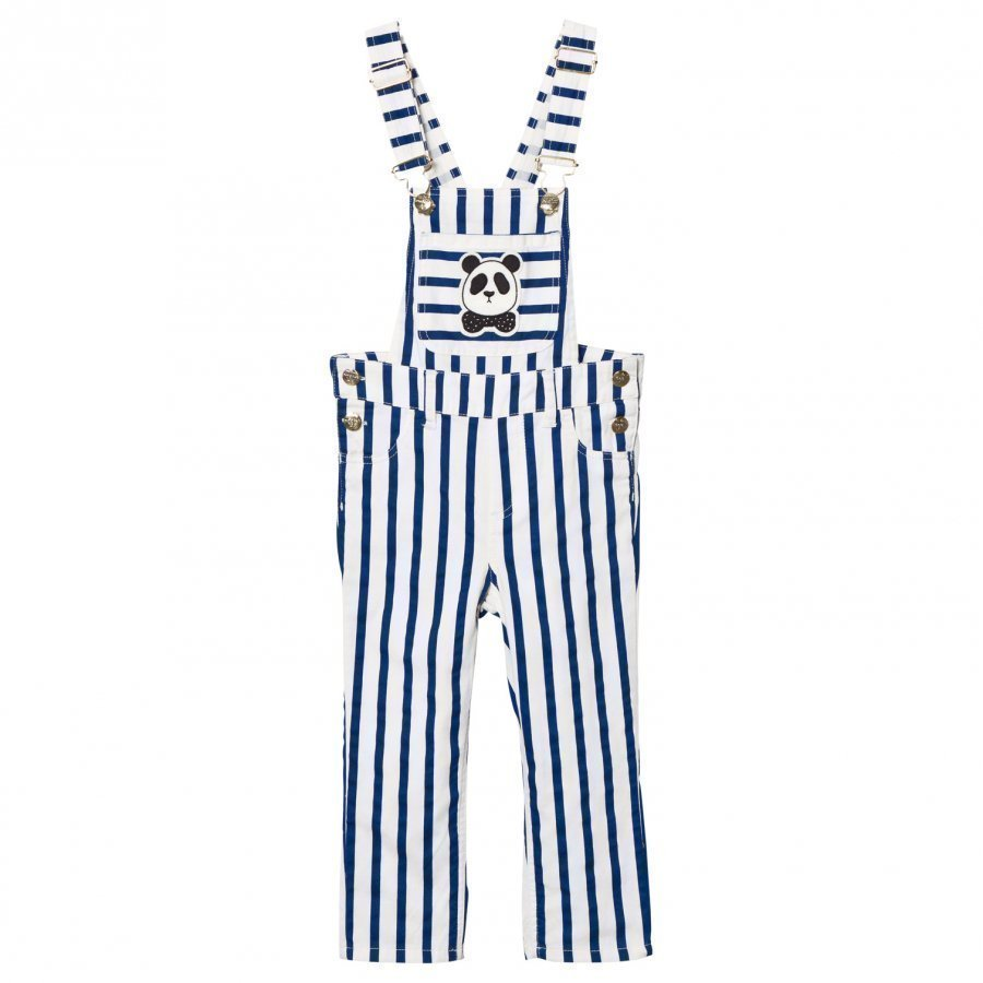 Mini Rodini Striped Overalls Blue Lappuhaalari