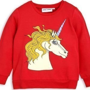 Mini Rodini Unicorn Red Trikoopusero