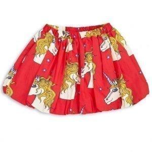 Mini Rodini Unicorn Star Woven Skirt Tyttöjen Lyhyt Hame