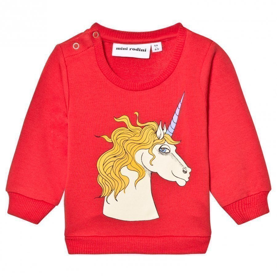 Mini Rodini Unicorn Sweatshirt Red Oloasun Paita