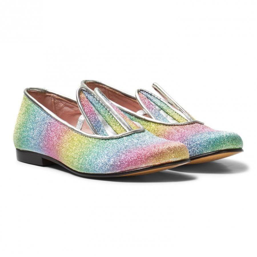 Minna Parikka Multi Glitter Bunny Ear Loafers Loaferit