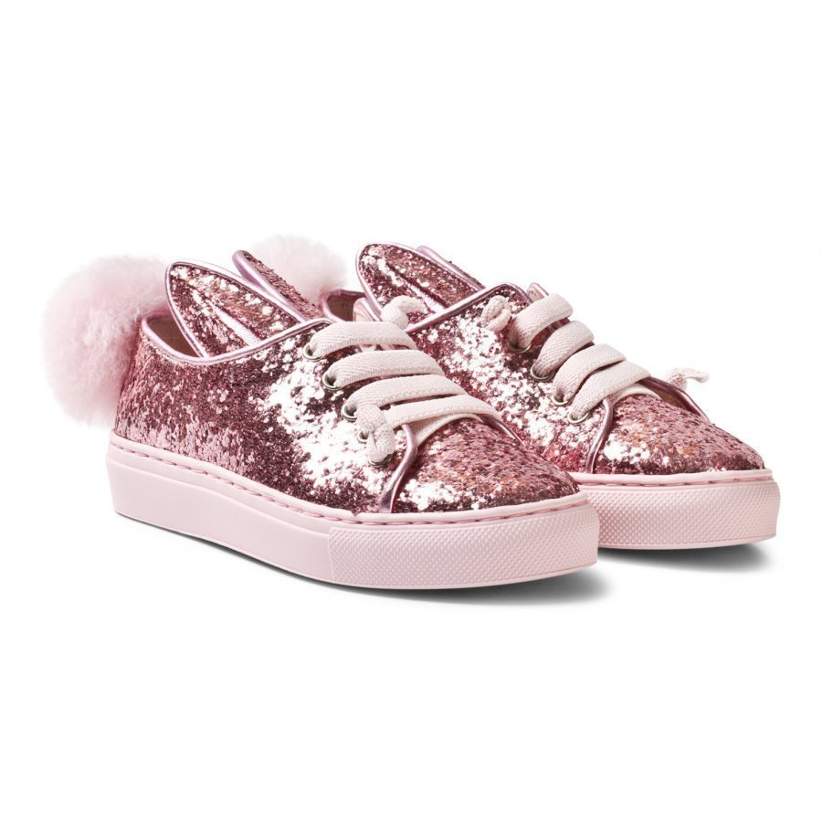Minna Parikka Rose Glitter Shearling Tail Sneaks Mini Trainers Lenkkarit