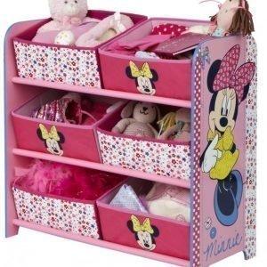 Minnie Mouse Hyllykkö kuudella säilytyslaatikolla
