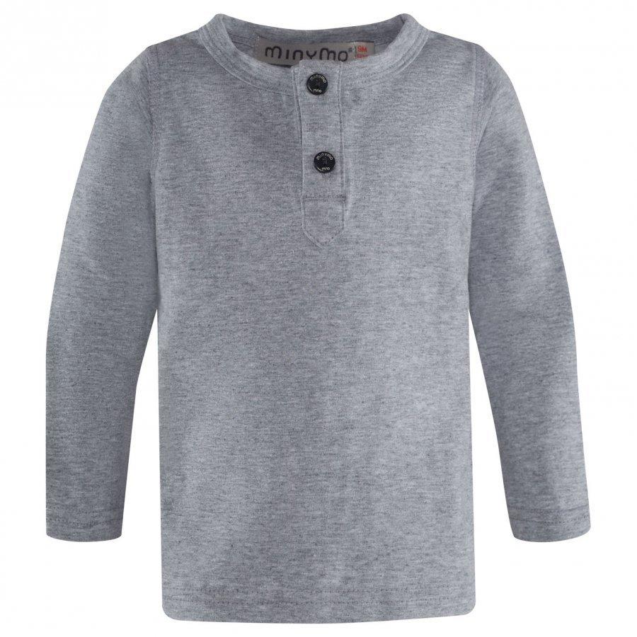 Minymo Grandpa T-Shirt Light Grey Melange Pitkähihainen T-Paita