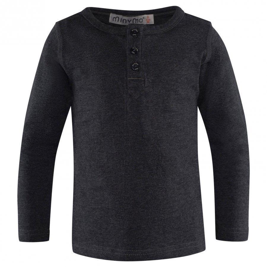 Minymo Grandpa T-Shirt Ls Dark Grey Melange Pitkähihainen T-Paita