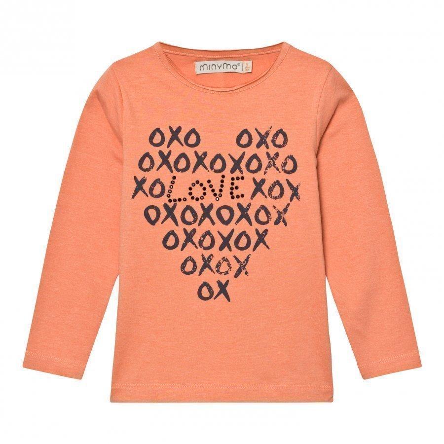 Minymo Janie 37 T-Shirt With Print Crabapple Pitkähihainen T-Paita