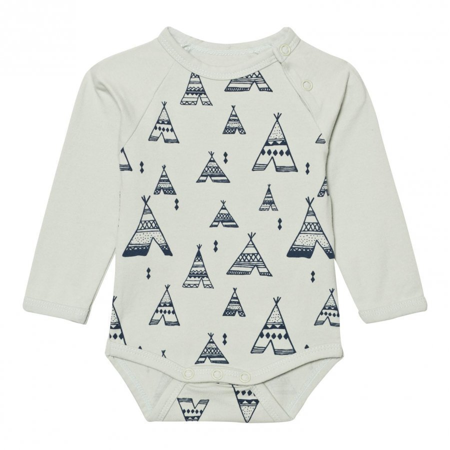 Minymo Joo 30 Baby Body Print In Mercury Body