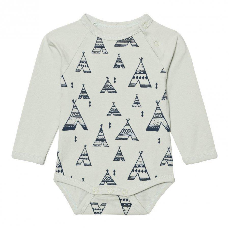 Minymo Joo 30 Baby Body Print In Mercury Body