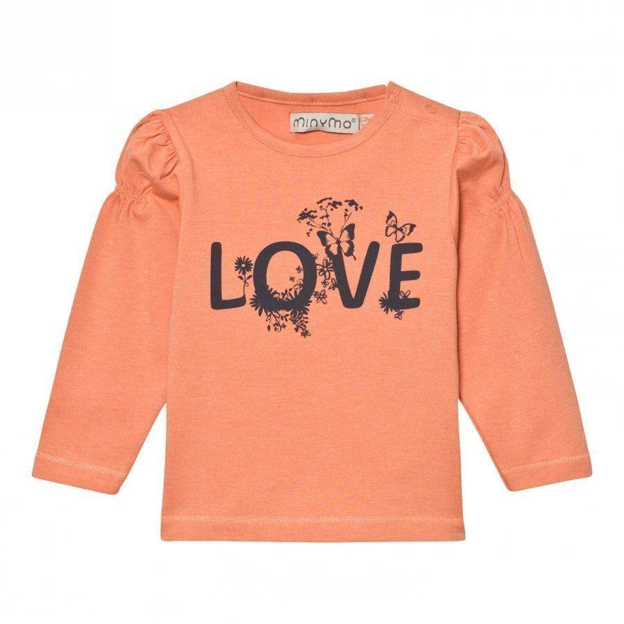 Minymo Julia 31 T-Shirt With Print Crabapple T-Paita