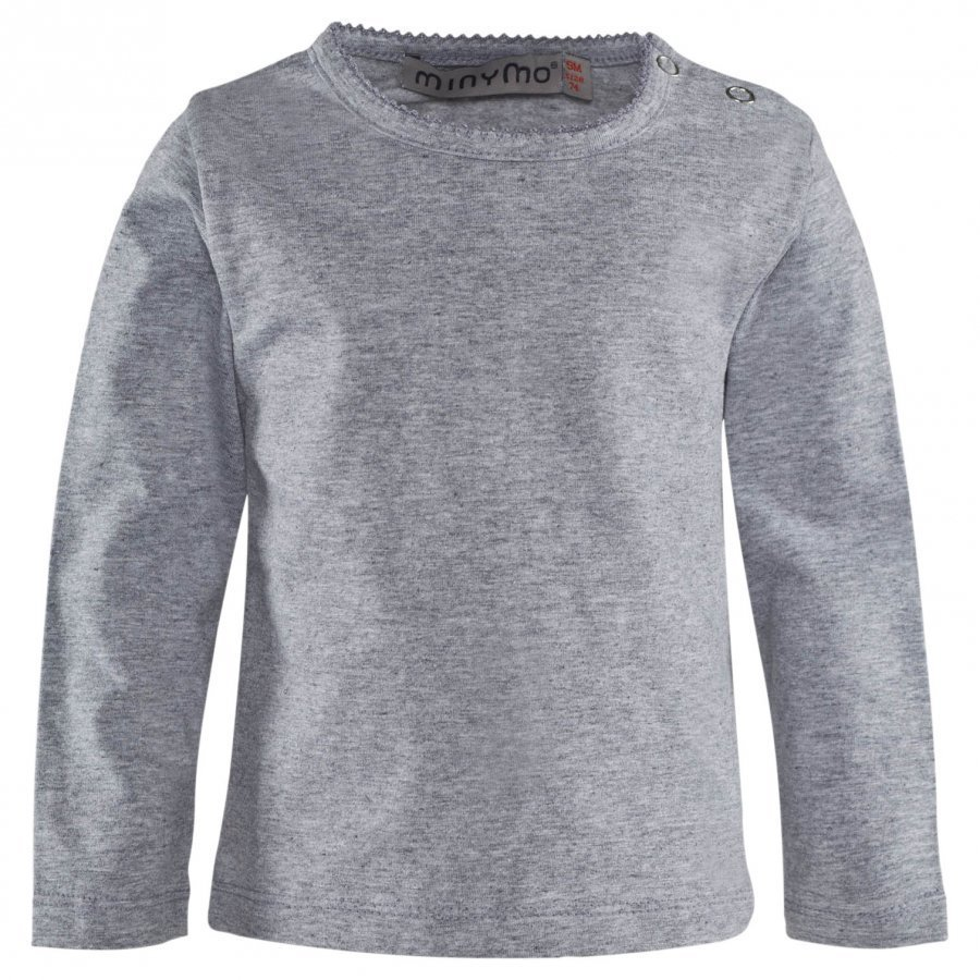 Minymo Long Sleeve Grandpa Light Grey Melange Pitkähihainen T-Paita