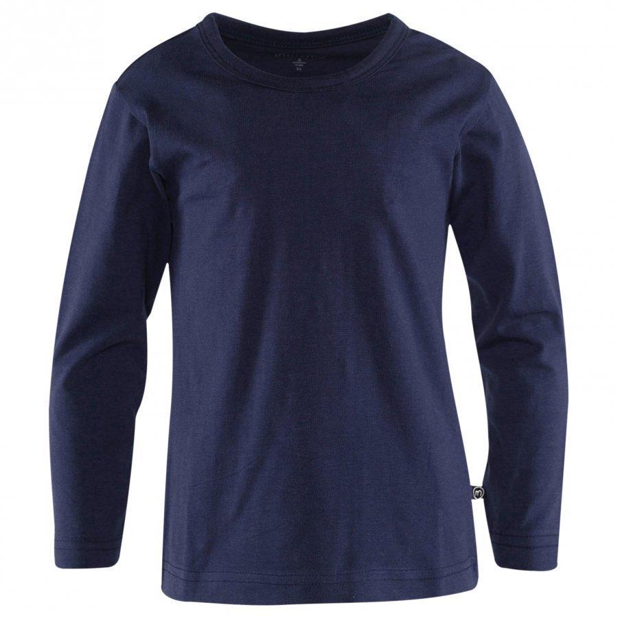 Minymo Ls T-Shirt 2-Pack Dark Navy Pitkähihainen T-Paita