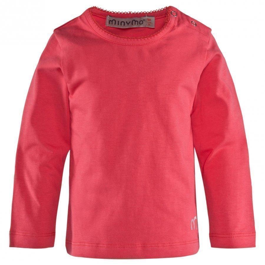 Minymo Ls T-Shirt Bright Pink Pitkähihainen T-Paita