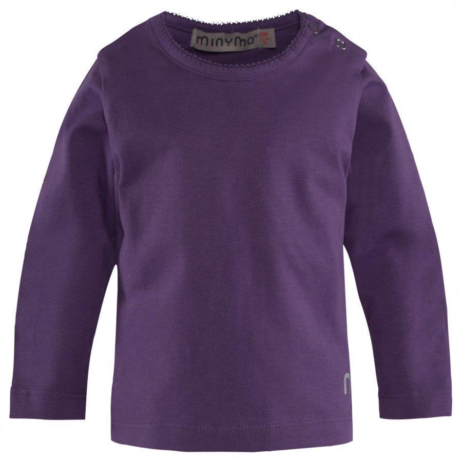 Minymo Ls T-Shirt Purple Pitkähihainen T-Paita