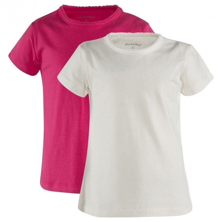 Minymo Ss T-Shirt 2-Pack Dark Pink T-Paita