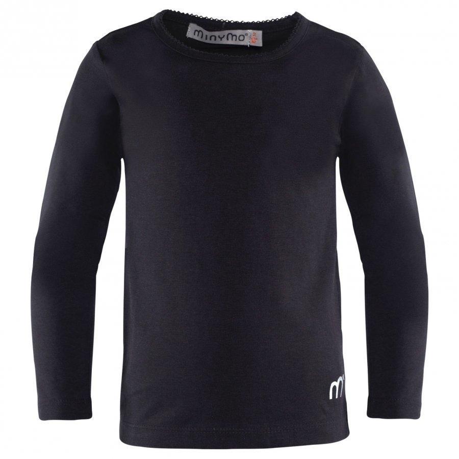 Minymo T-Shirt Ls Black Pitkähihainen T-Paita