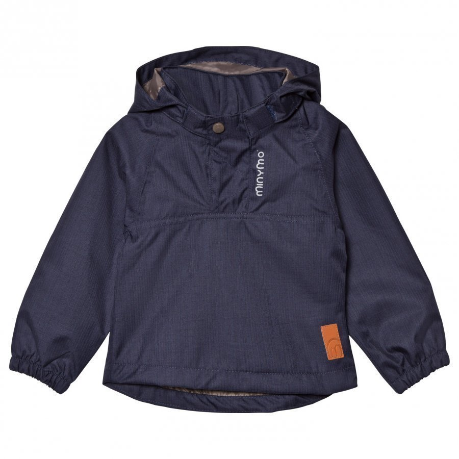 Minymo The Jazz 44 Jacket Herringbone Dark Navy Kuoritakki