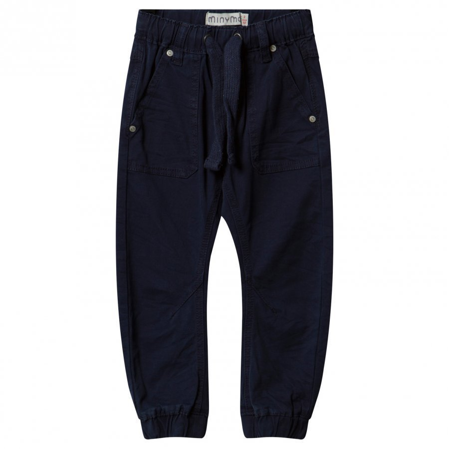 Minymo Twill Tiny Loose Pants Dark Navy Housut