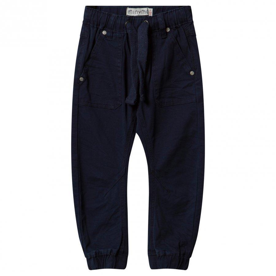 Minymo Twill Tiny Loose Pants Dark Navy Housut