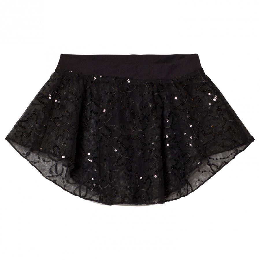 Mirella Black Sequin Butterfly Tulle Skirt Ballerinahame