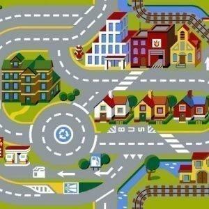 Modular Traffic Matto 80 x 120 cm City