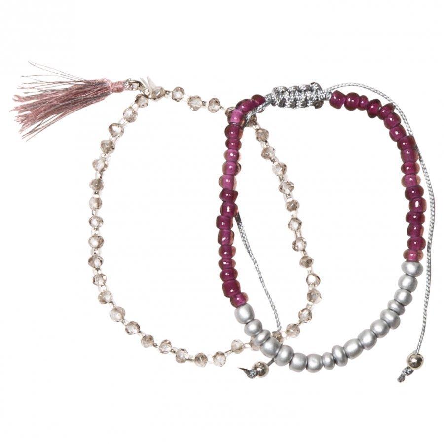 Molo 2-Pack Delicate Bracelets Purple Mist Rannekoru