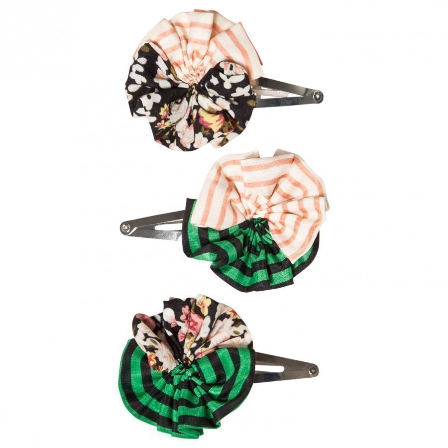 Molo 3-Pack Woven Circle Hair Clips Mix Hiusnauha