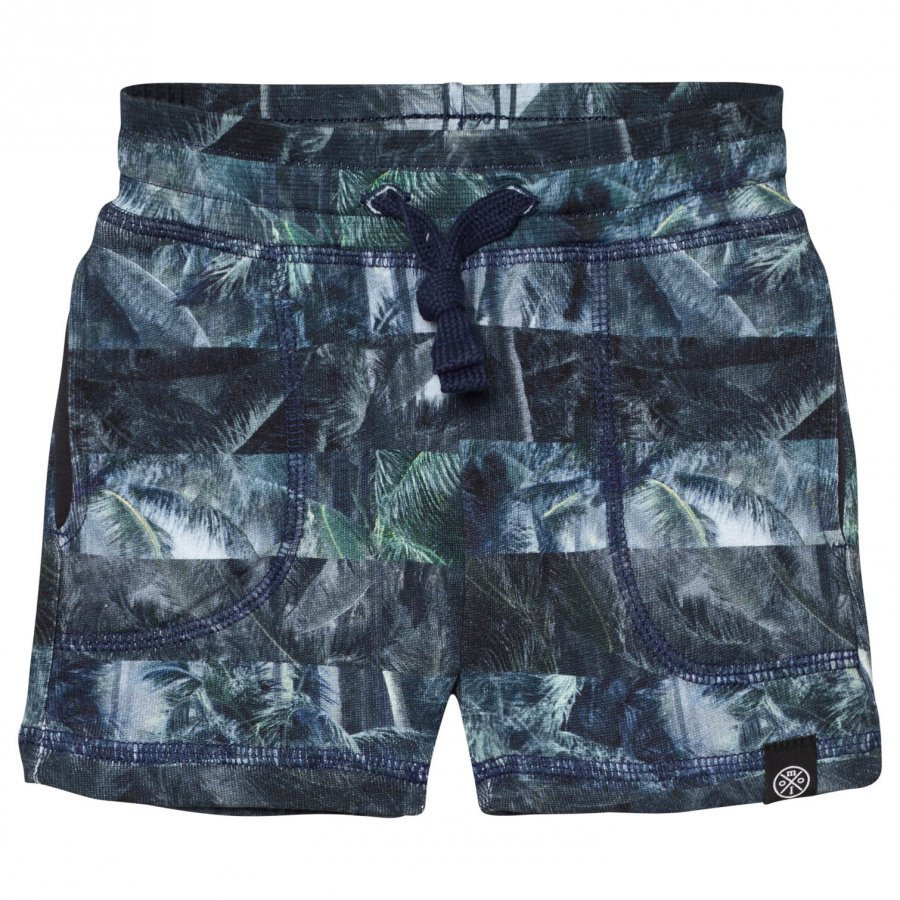 Molo Ajaz Shorts Camo Palm Stripes Oloasun Shortsit