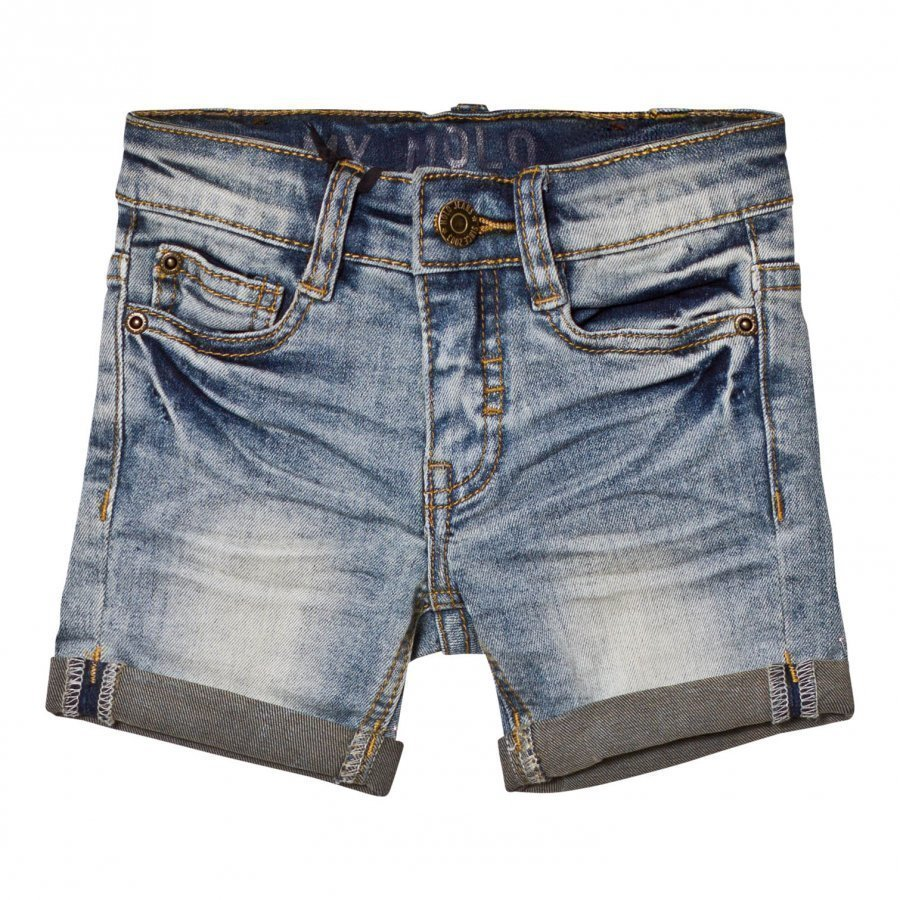 Molo Aslak Shorts Worn Denim Farkkushortsit