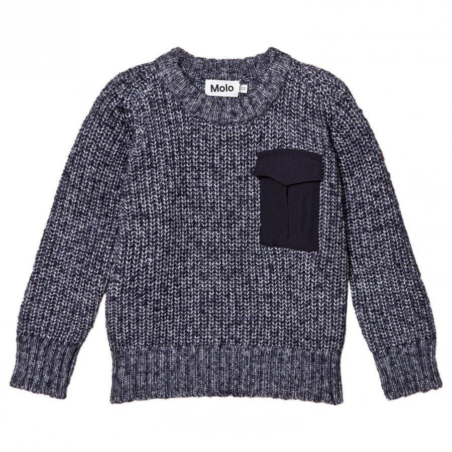 Molo Balder Knit Sweater Navy Blazer Neuletakki