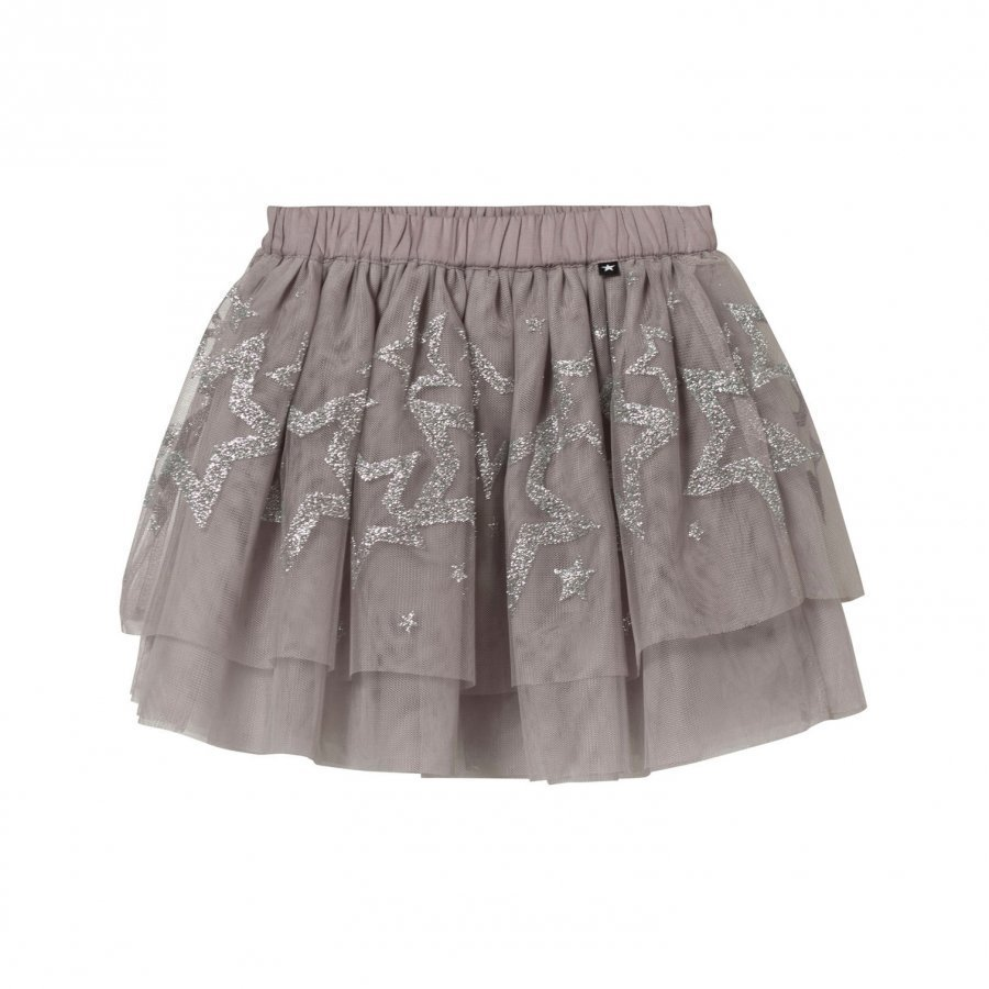 Molo Benete Skirt Silver Stars Lyhyt Hame